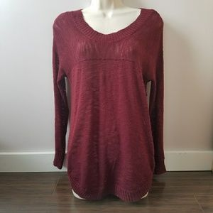 Burgundy sweater md